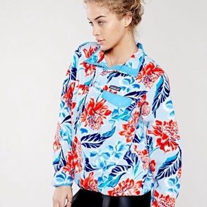 Patagonia Synchilla Snap T Fleece Pullover Floral